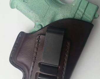 Springfield XD 40 Sub-Compact  Leather Holster ( Inside The Waistband )
