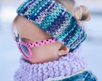 Pink/Purple/Aqua Handmade Toddler Earwarmer/kids/girls/christmas/fashion/winter/