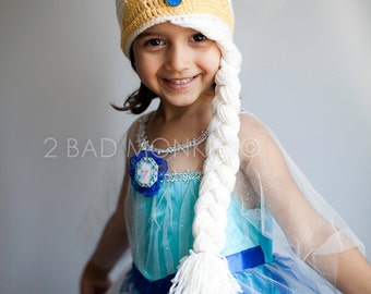 Elsa hat, Toddler Elsa Hat, Frozen Elsa hat, Toddler Winter Hat, Toddler girl hat