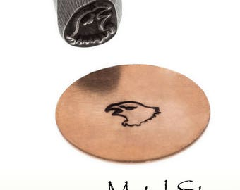 Eagle Head Metal Design Stamp for American or Eagles themed jewelry designs