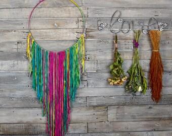 Rainbow Dreamcatcher  I Extra Large Dream Catcher I Bohemian/Boho Wall Hanging I Nursery Dreamcatcher I Large Dreamcatcher I Bridemaid Gift