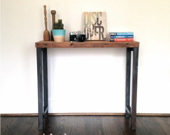 """The """"Harper"""" Console Table - Reclaimed Wood & Steel Console Table - Reclaimed Wood Console Table"""