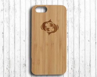 Pisces  iphone 6 plus case zodiac  iphone 7 plus case wood horoscope iphone 6s wood case wood  iphone 6s plus case  iphone 6 case