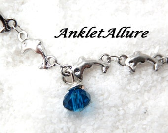 Dolphin Ankle Bracelet BEACH PROOF Stainless Steel Anklets for Women NECKLACES avail