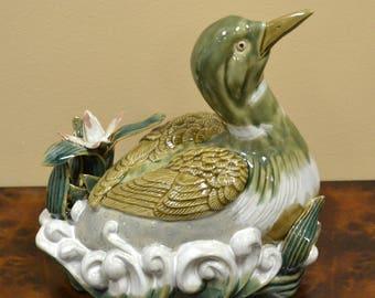 Ceramic Duck Statue