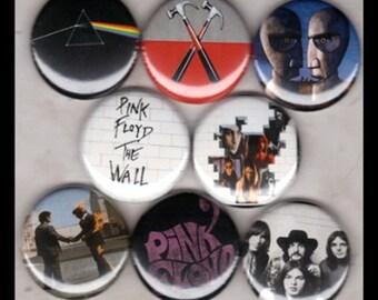 "8 Brand New 1"" ""Pink Floyd"" Button Set"