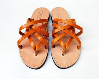Yellow Sandals made in Greece