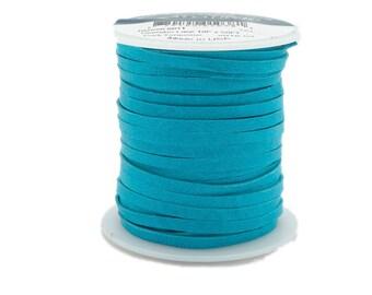 Dark Turquoise Deerskin Lacing - (1) 50 foot spool, 1/8th inch lace.  Deerskin lace. (297-18x50DT) A2
