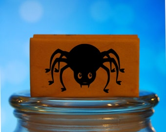 Adorable Spider Rubber Stamp Mounted Wood Block Art Stamp