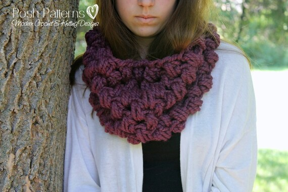 Crochet Pattern Crochet Cowl Pattern Crochet Patterns