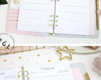 Printed A5 Gratitude journal, Gratitude planner, Writing journal, Prayer journal, Planner inserts, A5 Planner inserts, Planner refill