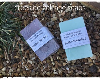 Herbal Medley and Rosemary Goat Milk Soaps, Two Bars