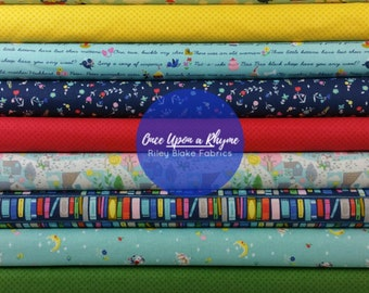 Once Upon A Rhyme Blue Bundle from Riley Blake Fabrics - 10 Fabrics