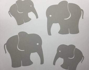 25 Elephant Cardstock Die Cut Cut Outs