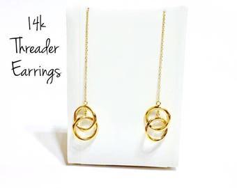 14k Threader Earrings