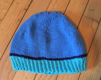 Two-toned blue beanie