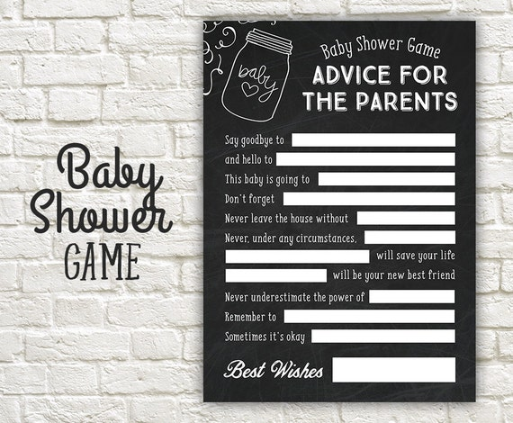 Advice Baby Shower Game Advice Parents To Be Shower