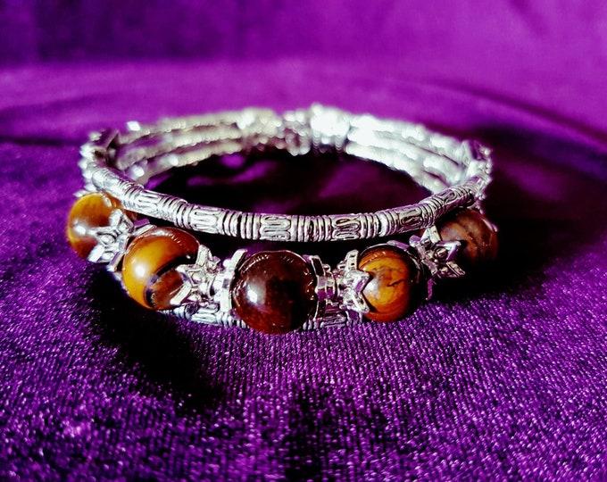 Tiger Eye Bracelet - spiritual tigereye wicca boho gothic protection magical witch pagan