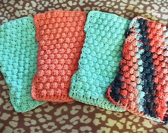 THREE PACK Crochet Cotton Swiffer Cover Reusable