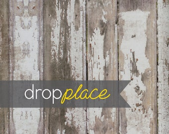 Wood Floor Backdrop Vintage White Painted Distressed Rustic Wedding Background Floor Drop  Photo Prop     (Multiple Sizes Available)