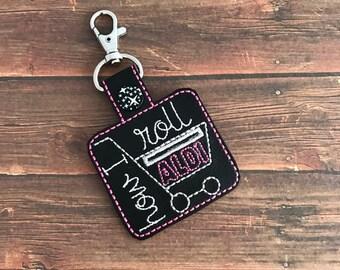 Aldi, Quarter Keeper, Keychain, Key Fob, Snap Tab, Luggage Tag, Zipper pull, Bag Tags, Backpack, Purses
