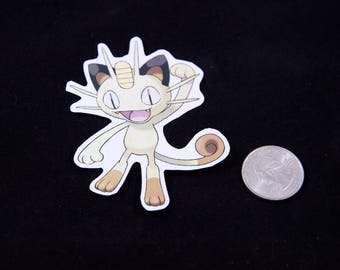 Meowth Pokemon Sticker
