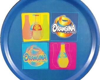 Set of bar advertising Orangina double-sided serving tray / vintage france / vintagefr.