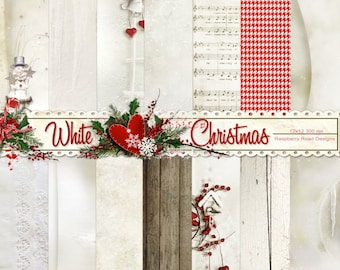 White Christmas Papers