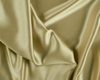 Gold Silk Charmeuse, Fabric By The Yard