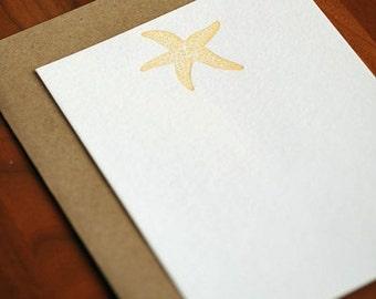 Starfish Letterpress Notecard Set