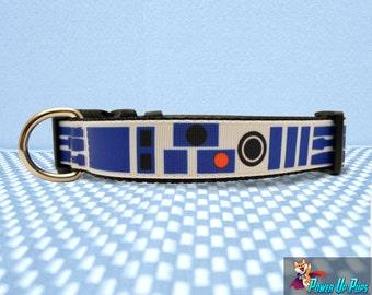 "R2D2 Star Wars Inspired 1"" Wide Dog Collar"