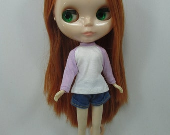 Handmade outfit for Blythe doll long sleeve Sweater Tee shirt SD-4