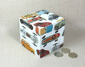 Personalised Cars Money Box ideal for Father's Day or keen young classic car enthusiasts +  Free Gift Wrapping