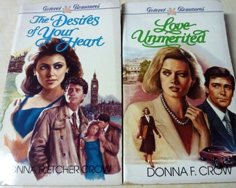 Forever Romance Set of 2 Romance Novels By Donna F. Crow