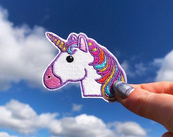 Unicorn Patch Iron On Embroidered Patches Applique Embroidery • Rainbow Horse Magic Pony Star Shine Cute Funny