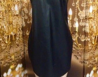 Leather Like Little Black Mini dress