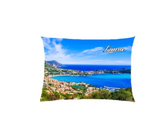 cushion digital print view satin Riviera customizable ref 623