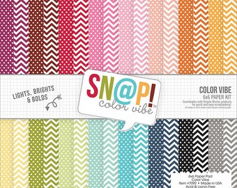 Simple Stories - Double Sided Paper Pad - 6x6 24 Pack Sn@p! Color Vibe II - 24 Colors/1 Each