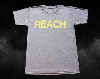 The REACH / ESCAPE Parkour T-Shirt - Athletic Grey with Yellow print