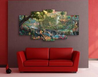 Mowgli, The Jungle Book, Disney, Mowgli canvas, The Jungle Book art, Disney canvas, Mowgli wall art, Disney wall art, Mowgli print