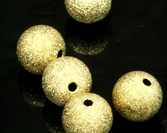 10 pcs 12 mm hole 13 gauge 1,8 mm stardust raw brass spacer bead , findings bab1.8