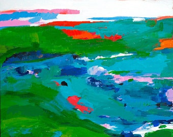 Modern Abstract Painting - Beach landscape