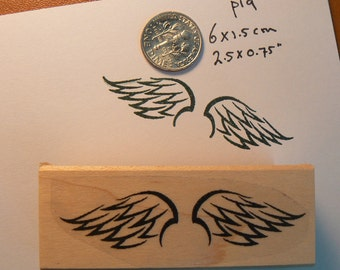 Wings rubber stamp P19