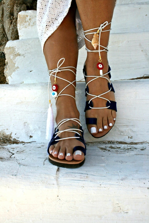Lace eye Lucky Navy Ios Sandal color Up UBSfxZ