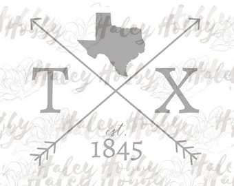Texas Silhouette file shirt DXF SVG cut file silhouette digital file