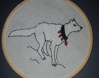 Wolf Embroidery