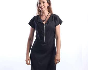 womens casual summer dresses - Summer dress -  Black dress - midi dress - spring dress - business casual