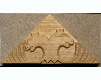 Leopard Design, African Printing Block Textile Stamp - Oshiwa Carved Wood Printing Stamp, 6.25''x 3.25'', Item 16-11-33