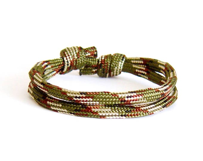 Rock Climbing Jewelry, Climbing Rope Bracelet. Survival Bracelet. Mens Anchor Bracelet