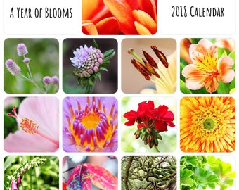 2018 Wall Calendar- Flower Photography